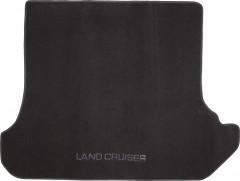 Коврик в багажник для Toyota Land Cruiser 95 '98-07 текстильный черный