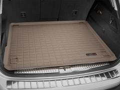 Коврик в багажник для Volkswagen Touareg '10-18 (2-х зонный климат), резиновый (WeatherTech) бежевый