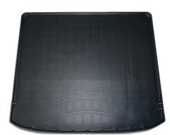 Коврик в багажник для Nissan X-Trail '08-15 (без органайзера), полиуретановый (NorPlast) черный