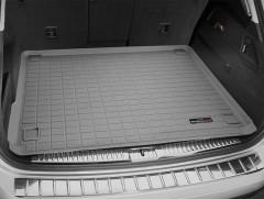 Коврик в багажник для Volkswagen Touareg '10-18 (2-х зонный климат), резиновый (WeatherTech) серый