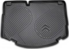 Коврик в багажник для Citroen C3 '10-16, полиуретановый (Novline / Element) черный