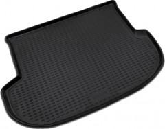 Коврик в багажник для Hyundai Santa Fe '10-12 CM (5 мест), полиуретановый (Novline / Element) черный