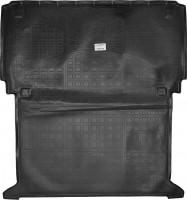 Коврик в багажник для Renault Kangoo '09- (грузовой), резино/пластиковый (NorPlast) черный