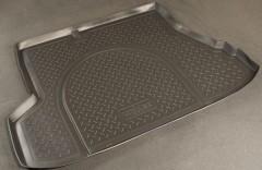 Коврик в багажник для Kia Cerato '07-09 седан, полиуретановый (NorPlast) черный