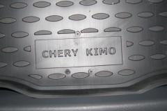Фото 5 - Коврик в багажник для Chery Kimo '07-, полиуретановый (Novline / Element) черный