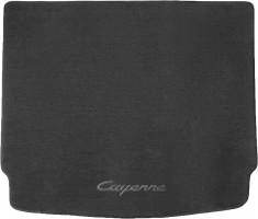 Коврик в багажник для Porsche Cayenne '10-17 (без сабвуфера), текстильный черный