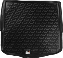 Коврик в багажник для Ford Mondeo '07-14 седан, с полноразмерным запасным колесом, резиновый (Lada Locker)