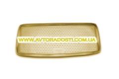 Коврик в багажник для Infiniti QX80 '11- (короткий), полиуретановый (Novline) бежевый