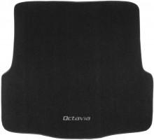 Коврик в багажник для Skoda Octavia A5 '05-13 универсал, текстильный черный
