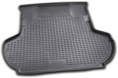 Коврик в багажник для Citroen C-Crosser '07-12 (без сабвуфера), полиуретановый (Novline / Element) черный