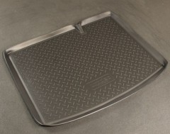 Коврик в багажник для Renault Sandero '08-12, полиуретановый (NorPlast) черный