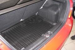 Коврик в багажник для Chevrolet Aveo '11- хетчбэк, полиуретановый (Novline / Element) черный