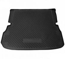 Коврик в багажник для Nissan Pathfinder '14- (7 мест, длинный) полиуретановый черный (Nor-Plast)
