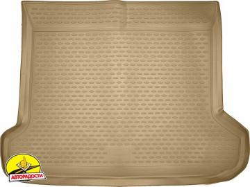 Коврик в багажник для Toyota LC Prado 150 '10-13 (5 мест), полиуретановый (Novline / Element) бежевый