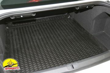 Коврик в багажник для Volkswagen Passat B7 '10-14 седан, полиуретановый (Novline) черный