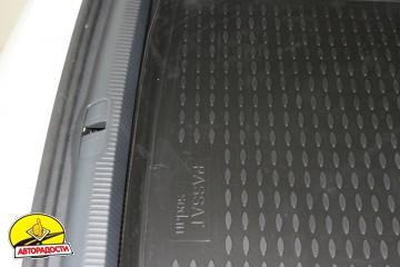 Коврик в багажник для Volkswagen Passat B7 '10-14 седан, полиуретановый (Novline / Element) черный