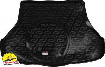 Коврик в багажник для Kia Cerato '13-17 седан, с полноразмерным зап. колесом, резино/пластиковый (Lada Locker)