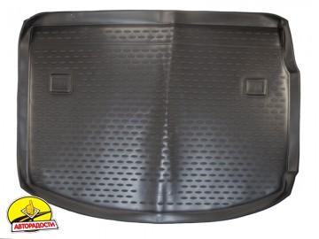 Коврик в багажник для Renault Megane '08-16 хетчбэк, полиуретановый (Novline / Element) черный
