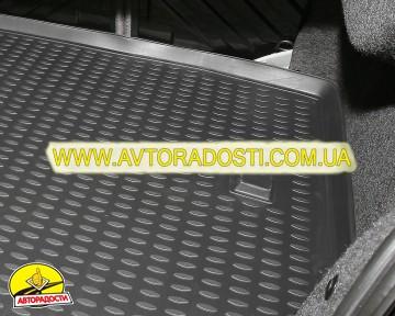 Коврик в багажник для Mitsubishi Pajero Wagon 3 (III) '00-07, полиуретановый (Novline / Element) черный