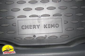 Коврик в багажник для Chery Kimo '07-, полиуретановый (Novline / Element) черный