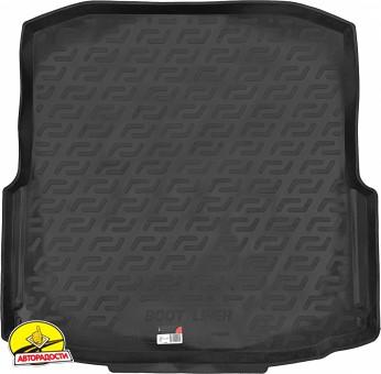 Коврик в багажник для Skoda Octavia A7 '13- седан (с органайзером), резино/пластиковый (Lada Locker)